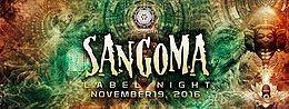 Party Flyer Aioaska Productions Presents ॐ Sangoma Records Label Night ॐ 19 Nov '16, 22:00