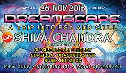 Party Flyer Dreamscape mit Shiva Chandra 26 Nov '16, 23:00