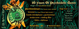 Party Flyer NATURAL HIGH 16th ANNIVERSARY (2000-2016) 26 Nov '16, 23:30