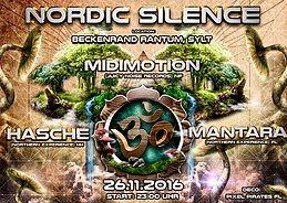 Party Flyer Nordic Silence meets Sylt - Midimotion, Hasche, Mantara 26 Nov '16, 23:00