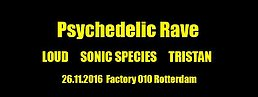 Party Flyer psychedelic rave 26. Nov. 16, 22:00