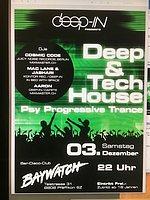 Party Flyer Deep-In Deep & Tech House sowie Psy Progressive Trance 3 Dec '16, 22:00