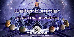 Party Flyer Weltenbummler with ELECTRIC UNIVERSE 3 Dec '16, 23:00