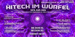 Party Flyer Hitech im Würfel 10 Dec '16, 22:00