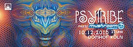 Party Flyer PSY TRIBE meets mushroom magazine mit FREEDOM FIGHTERS, AIOASKA uvm. 10 Dec '16, 23:00