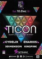 Party Flyer TICON live in Athens! 10 Dec '16, 23:00