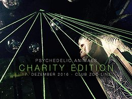 Party Flyer Psychedelic Animals - CHARITY Edition 17 Dec '16, 22:00