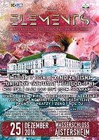 Party Flyer ELEMENTS FESTIVAL Aistersheim Wasserschloss 25 Dec '16, 21:00