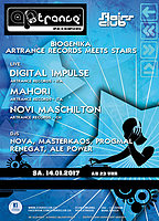 Party Flyer Biogenika - Artrance Records meets Stairs 14 Jan '17, 23:00