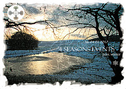 Party Flyer 4 SEASONS EVENTS pres. winter 4 Feb '17, 23:00