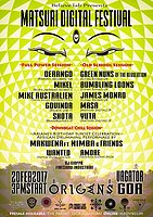 Party Flyer MATSURI DIGITAL Festival in GOA 20 Feb '17, 15:00