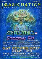 Party Flyer Pura Vida presents: Imagicnation chapter IV feat. Zen Mechanics & Shadow FX 25 Feb '17, 12:00