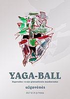 Party Flyer YAGA-BALL masquerade - Yegaveda 14 anniversary 25 Feb '17, 22:00