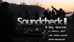Party Flyer Soundcheck II - B-Day Special mit Gaia und Abshalom 11 Mar '17, 12:00