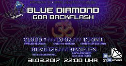 Party Flyer Mütze pres. Blue Diamond GOA Backflash 31 Mar '17, 22:00