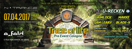 Party Flyer Tree of Life Festival - Pre Event Cologne 7 Apr '17, 23:00
