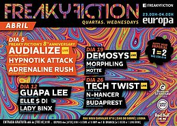 Party Flyer FREAKY FICTION 12 Apr '17, 23:00
