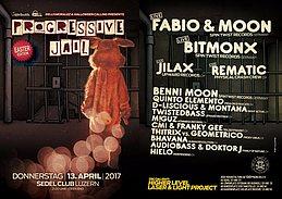 Party Flyer Progressive Jail Eastern Edition w/ Fabio&Moon, Bitmonx, uvm. 13 Apr '17, 21:00