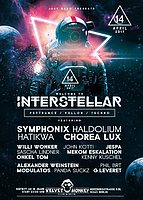 Party Flyer Interstellar w/ Symphonix,Haldolium,Hatikwa ,Chorea Lux 14 Apr '17, 23:00