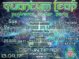 Party Flyer QuAnTuM•LeAp • PsY EaStEr PaRtY • GOA Reunion • BIG STAGE @intifada • 15 Apr '17, 22:00