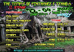 Party Flyer The Temple of Psytrance & tekno 6 : the Rabid Alien 22 Apr '17, 23:00