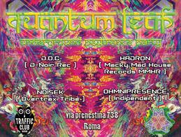 Party Flyer QuAnTuM•LeAp • Psy Trance Party • ROMA 28 Apr '17, 22:30