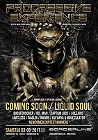 Party Flyer Progressive Experience with Coming Soon / Liquid Soul 3 Jun '17, 23:00