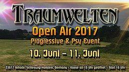 Party Flyer TRAUMWELTEN - OPEN AIR 01. - 23617plz 10 Jun '17, 15:00