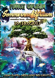 Party Flyer ForRest-Explosion Sommernachtztraum Festival 2017 S.N.T. 16 Jun '17, 16:00