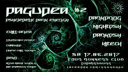 Party Flyer Pagudea#2 w/ Audiosyntax/KajoDelic/Alucinatio/Zoltn uvm. 17 Jun '17, 22:00