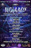 Party Flyer Nomad V extra psychedelic - Despedida Pulsar tour Europa 2017 7 Jul '17, 23:00