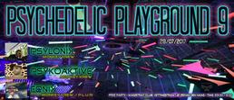"Party Flyer Monkey Krew presents: ""Psychedelic Playground 9"" 28 Jul '17, 22:00"