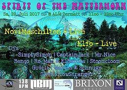 Party Flyer ॐ Spirit of the Matterhorn ॐ 29 Jul '17, 11:00
