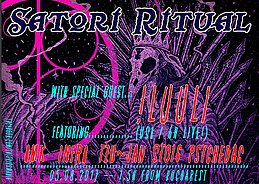 Party Flyer ۞ SATORI RITUAL with a special guest: !LUULI ۞ 5 Aug '17, 22:00