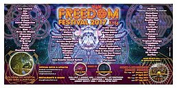 Party Flyer Freedom Festival 2017 8 Aug '17, 12:00
