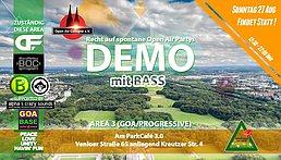 Party Flyer GOA-Demo für spontane Open Air Partys 2017 12 Aug '17, 14:00
