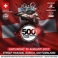 Party Flyer SYNERGY pres. FSOE500 Love Mobile at Street Parade 12 Aug '17, 13:00