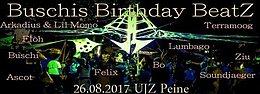 Party Flyer Buschi´s Birthday BeatZ - Die Zweite 26 Aug '17, 12:00