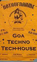 Party Flyer Goa vs Techno and Tech-house 1 Sep '17, 22:00