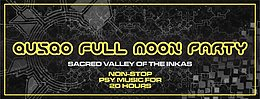 Party Flyer QUSQO FULL MOON PARTY 6 Sep '17, 17:00