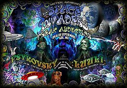 Party Flyer Space Invaders 2017: Freak Abduction 9 Sep '17, 22:00