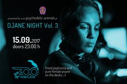 Party Flyer Psychedelic Animals present: Djane Night Vol. 3 15 Sep '17, 23:00