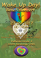 Party Flyer Wake-Up Day Benefizkonzert - Afterparty 23 Sep '17, 23:30