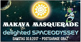 Party Flyer MAKAvA Masquerade – Delighted Spaceodyssey 30 Sep '17, 23:00