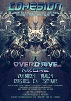 Party Flyer Cohesion Psytrance Adventure 7 Oct '17, 23:00