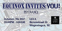Party Flyer Equinox Invites: YOU! 7 Oct '17, 23:00