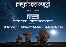Party Flyer PsYcHeGrOuND presents: First Contact with Mental Broadcast 7 Oct '17, 22:00