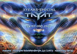 Party Flyer ॐ TAYAT ॐ 3 Years Special ॐ 7 Oct '17, 22:00
