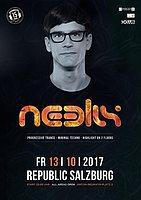 Party Flyer Neelix at Republic (Saal) Salzburg 13 Oct '17, 22:00