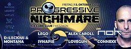 Party Flyer Progressive Nightmare II 13 Oct '17, 22:00